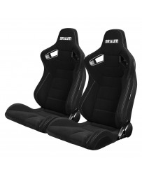 BRAUM ELITE SERIES RACING SEATS (BLACK CLOTH) – PAIR