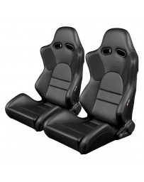 BRAUM ADVAN SERIES RACING SEATS (BLACK LEATHERETTE) – PAIR