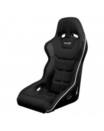 BRAUM FALCON X SERIES FIA APPROVED FIXED BACK RACING SEAT (BLACK WITH WHITE PIPING)