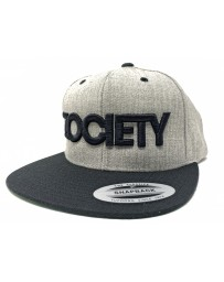 ZOCIETY Wool hat with snap back and white logo