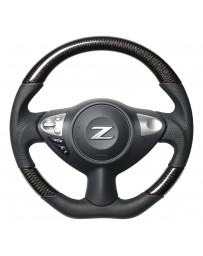 370z REAL JAPAN Steering wheel - all leather - Black Euro stitching