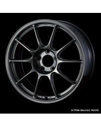 WedsSport TC-105X 18x9 5x114.3 ET25 Wheel- Titanium