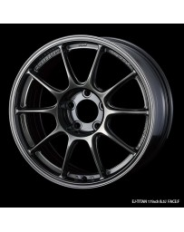 WedsSport TC-105X 17x9 5x114.3 ET25 Wheel- Titanium