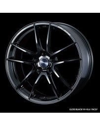 WedsSport RN-55M 19x8 5x114.3 ET45 Wheel- Gloss Black