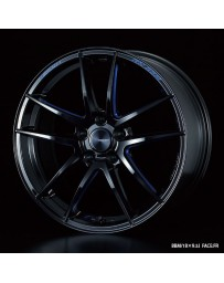 WedsSport RN-55M 18x8.5 5x114.3 ET38 Wheel- Black with Blue Machining
