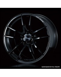 WedsSport RN-55M 18x8 5x114.3 ET45 Wheel- Gloss Black