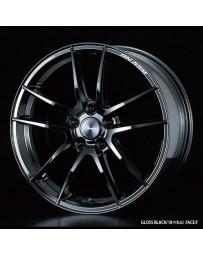 WedsSport RN-55M 18x7.5 5x110 ET34 Wheel- Gloss Black