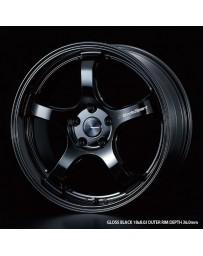 WedsSport RN-05M 18x7.5 5x114.3 ET45 Wheel- Gloss Black