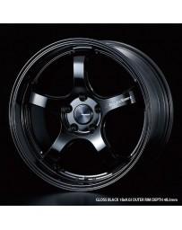 WedsSport RN-05M 18x8.5 5x114.3 ET45 Wheel- Gloss Black