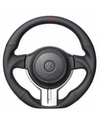 Toyota GT86 REAL JAPAN Steering wheel - Nappa all leather (Black x Red Euro Stitch) D shape