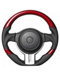Toyota GT86 REAL JAPAN Steering wheel - Red carbon 3C (Black x Red Euro Stitch) D shape