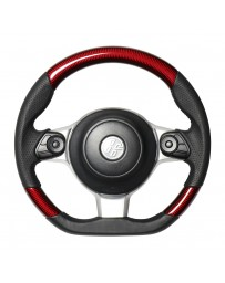 Toyota GT86 REAL JAPAN Steering wheel - Red carbon - Black euro stitch