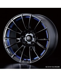 WedsSport SA-72R 18x8.5 5x114.3 ET50 Wheel- Blue Light Chrome Black