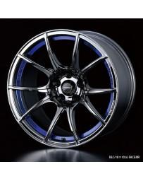 WedsSport SA-10R 18x7.5 5x100 ET45 Wheel- Blue Light Chrome Black