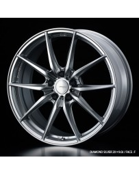 WedsSport FT-117 20x8.5 5x114.3 ET45 Wheel- Diamond Silver
