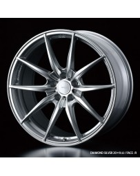 WedsSport FT-117 20x9.5 5x114.3 ET48 Wheel- Diamond Silver