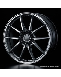 WedsSport FT-117 20x9.5 5x114.3 ET35 Wheel- Diamond Black