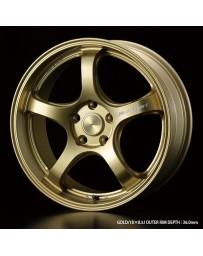 WedsSport RN-05M 18x8.5 5x114.3 ET52 Wheel- Gold