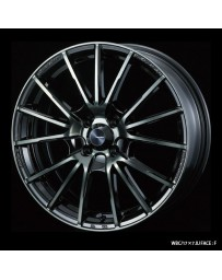 WedsSport SA-35R 17x7 5x114.3 ET48 Wheel- Weds Black Chrome