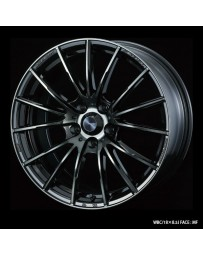 WedsSport SA-35R 18x7.5 5x114.3 ET45 Wheel- Weds Black Chrome