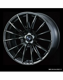 WedsSport SA-35R 18x9.5 5x114.3 ET38 Wheel- Weds Black Chrome