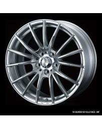 WedsSport SA-35R 17x7 4x100 ET50 Wheel- Silver