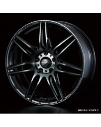 WedsSport SA-77R 18x7.5 5x114.3 ET35 Wheel- Weds Black Chrome