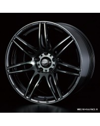 WedsSport SA-77R 18x9.5 5x114.3 ET38 Wheel- Weds Black Chrome