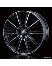 WedsSport SA-54R 17x7 4x100 ET50 Wheel- Weds Black Chrome