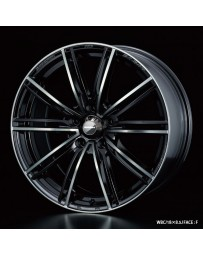 WedsSport SA-54R 18x7.5 5x114.3 ET45 Wheel- Weds Black Chrome
