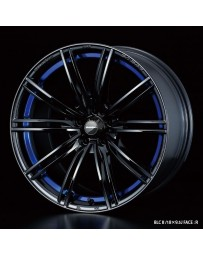 WedsSport SA-54R 17x7.5 5x100 ET48 Wheel- Blue Light Chrome Black