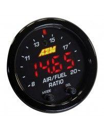 "350z AEM X-Series 2-1/16"" Wideband UEGO AFR Sensor Controller Gauge, Black"