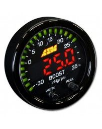 "350z AEM X-Series 2-1/16"" Boost Pressure Gauge, Black, 35 PSI/2,5BAR"