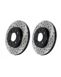 Toyota GT86 StopTech Discs - Rear pair - DRILLED & SLOTTED