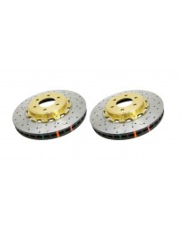 Toyota GT86 DBA 5000 Series Discs - Front pair - DRILLED & SLOTTED