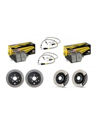 Toyota GT86 StopTech Discs & Hawk COMPLETE kit - SLOTTED