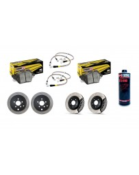 Toyota GT86 StopTech Discs & Hawk COMPLETE kit with fluid - SLOTTED