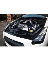 Nissan GT-R R35 Titek Carbon Fiber Radiator Cooling Plate, Gloss