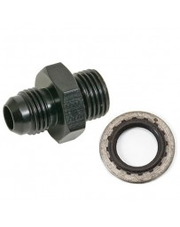 Chase Bays 16mm to -6AN Power Steering Adapter w/ Buna Sealing Washer BLK