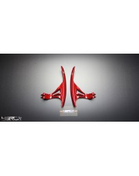 4 Second Racing Club Nissan GT R35 Large Racing Paddle Shifters Gloss Nismo Red - Special edition