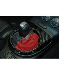 350z Facelift 06-07 EVO-R Carbon Fiber Shifter Cover - Manual gearbox