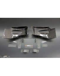 4 Second Racing Club Nissan GT R35 Carbon fibre front Brake Cooling Guide Kit