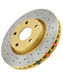 350z DBA 4000 Series XS Premium Drilled/Slotted Rotors, Rear