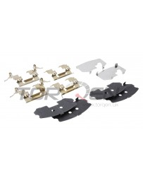 R34 Nissan OEM Front Brake Pad Shim & Hardware Kit with Standard Non-Sport Calipers Front