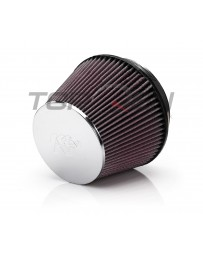 350z K&N Reusable High Flow Air Filter, Chrome, Universal