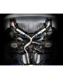 350z Tomei Ti Racing Titanium Y-Pipe Back Exhaust System, Dual Muffler