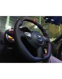 370z EVO-R Carbon Fiber, Red Stitched Steering Wheel