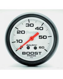 Nissan GT-R R35 AutoMeter Phantom Mechanical Boost Gauge 60 PSI - 52mm