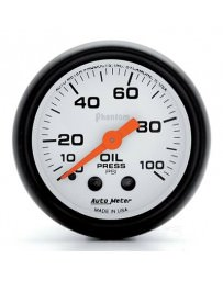 Nissan GT-R R35 AutoMeter Phantom Mechanical Oil Pressure Gauge 100 PSI - 52mm