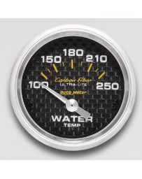 Nissan GT-R R35 AutoMeter Carbon Fiber Electronic Water Temperature Gauge 100-250 Deg F - 52mm